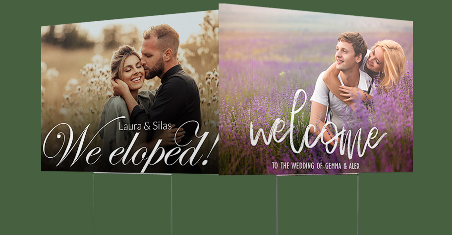Wedding & Elopement Collection Yard Sign Templates