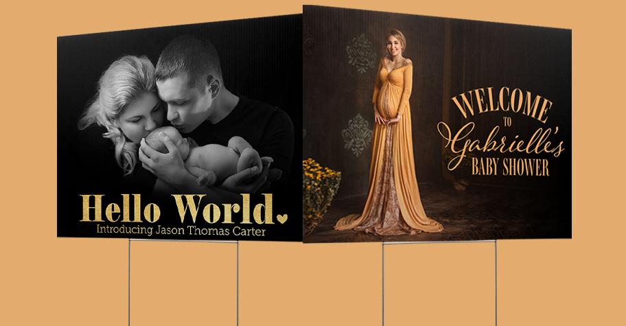 Maternity & Newborn Yard Sign Templates