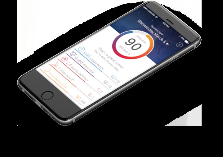 A phone using the AirMini app