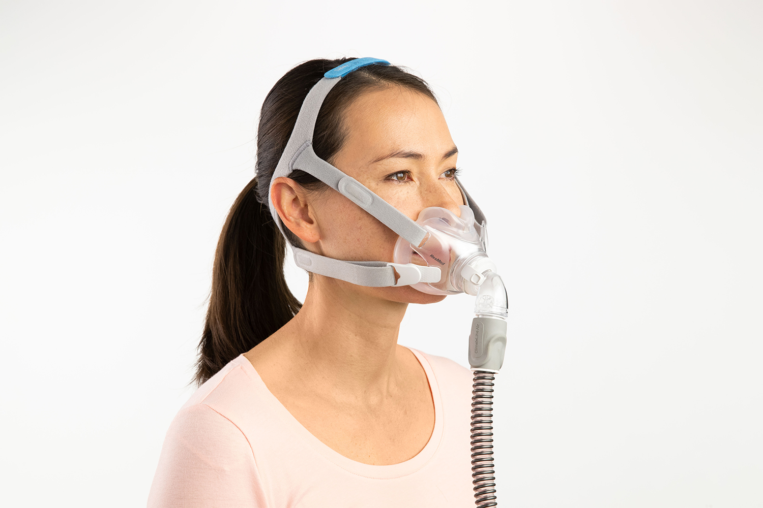 Side View of Woman Wearing AirFit F30 Mask