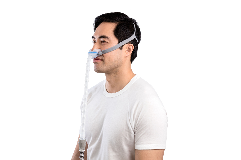Man Wearing AirFit N30 for AirMini Mask