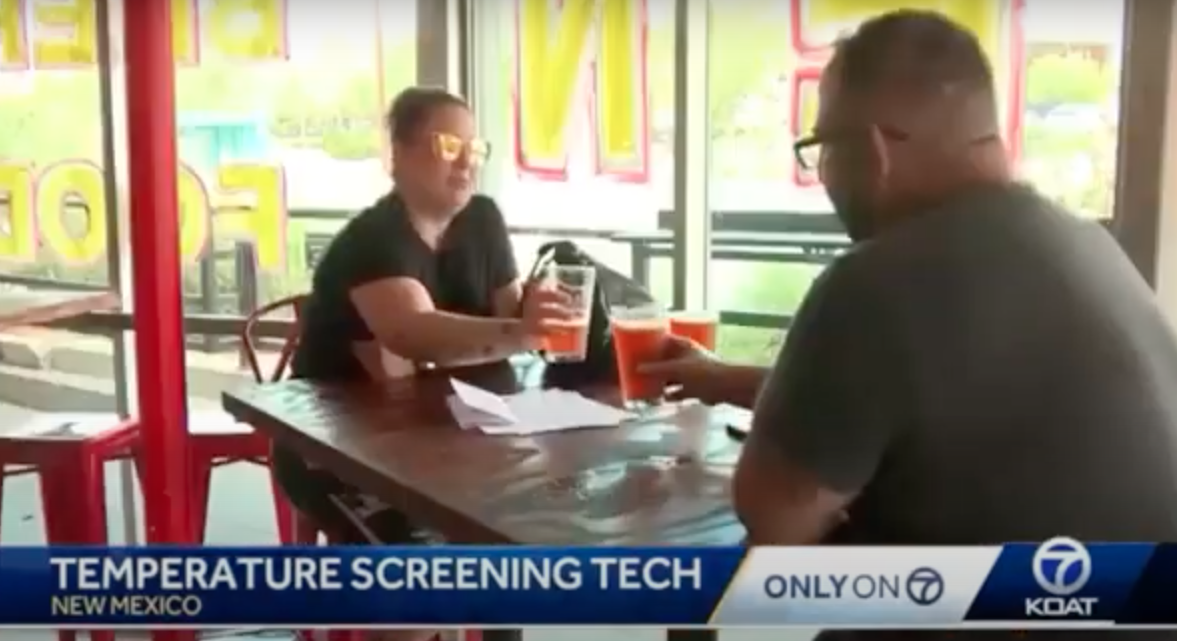 New screening tech for restaurants in New Mexico.