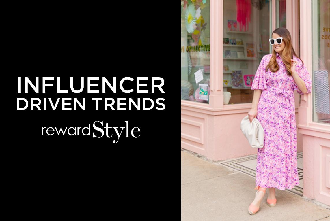rewardStyle influencer driven trends - Maxi dresses woman pink Maxi dress
