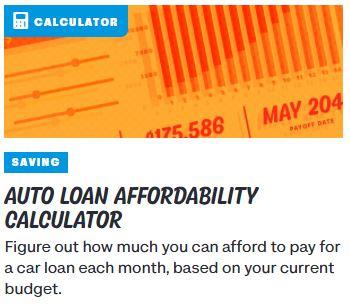 Auto Loan Affordability Calculator