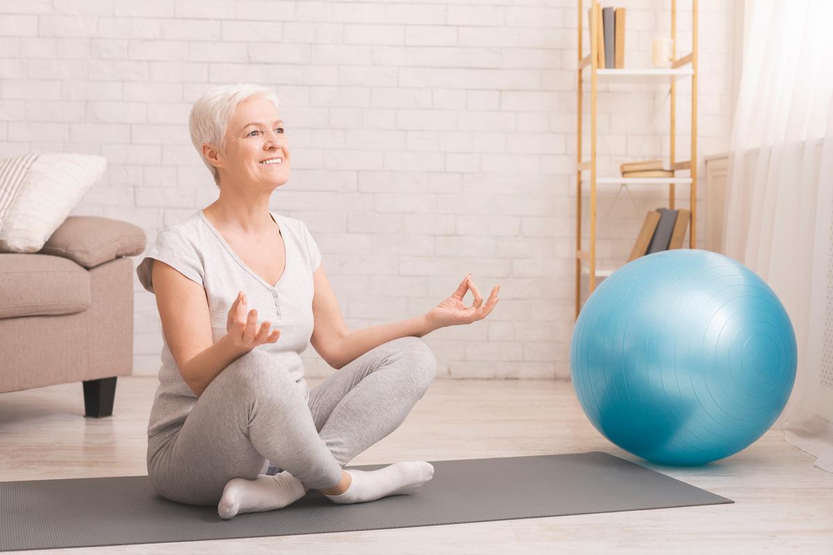 Senior Woman Practicing Yoga