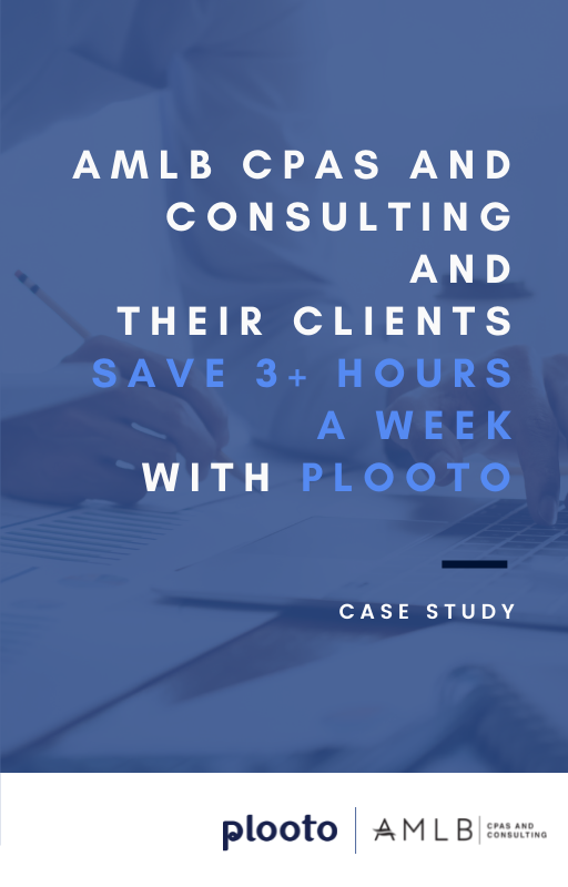 AMLB CPAs and Consulting and their Clients Save 3+ hours a week with Plooto
