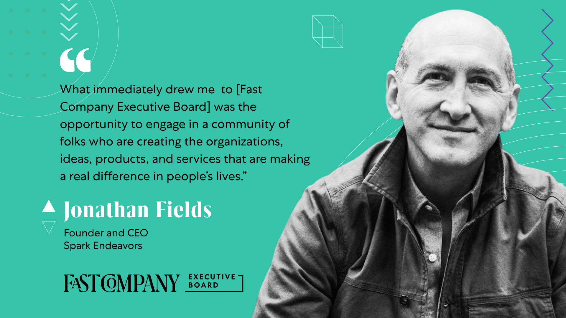 Jonathan Fields Drawn to Fast Company Executive Board's Insightful and Highly Curated Community